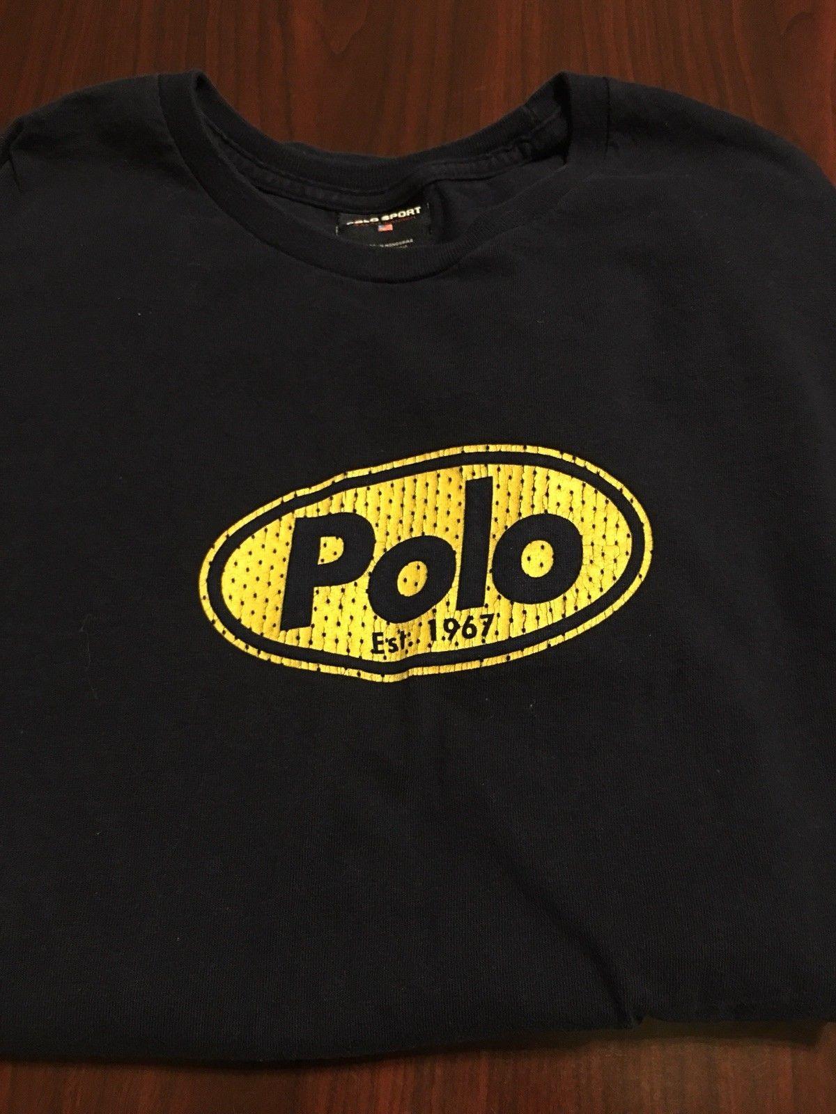 Compre Vintage 90 S Polo Esporte Azul Marinho Soletrar Camisa De Manga  Longa Dos Homens T Médio M 2018 Engraçado Tee 09325b13375c3