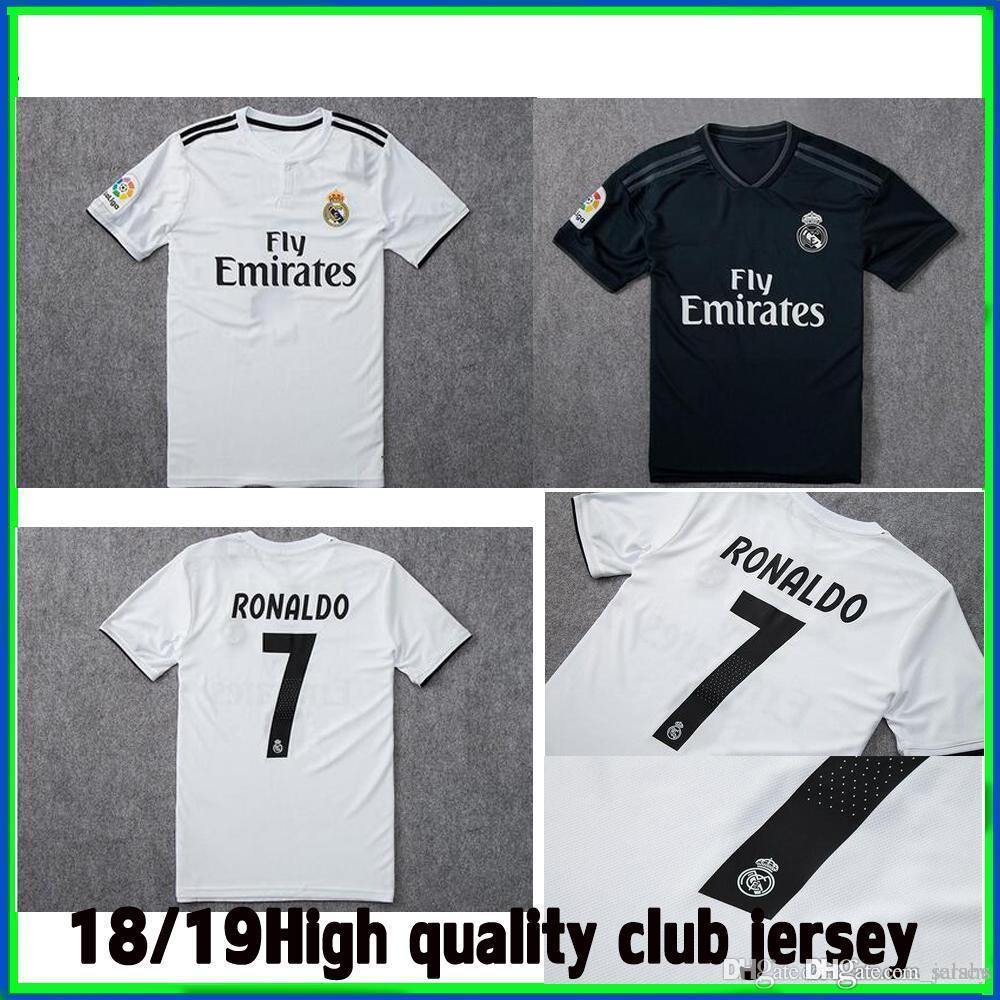 d2638f81838d2 Real Madrid 2019 Ronaldo KROOS MODRIC Thai Camisetas De Fútbol 18 19 Real  Madrid Camisetas ASENSIO ISCO MARCELO SERGIO RAMOS Camiseta De Fútbol Por  Salahs