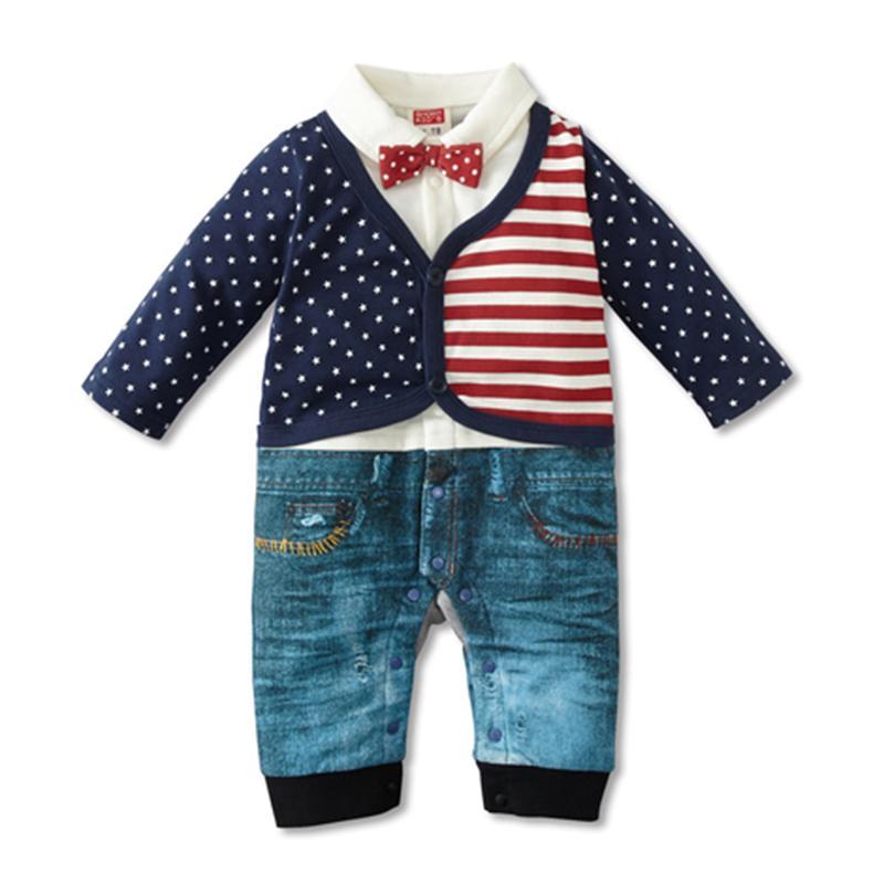 23e1d4b39 2019 Fashion Style Baby Romper Newborn Baby Boys Clothes 100% Cotton ...