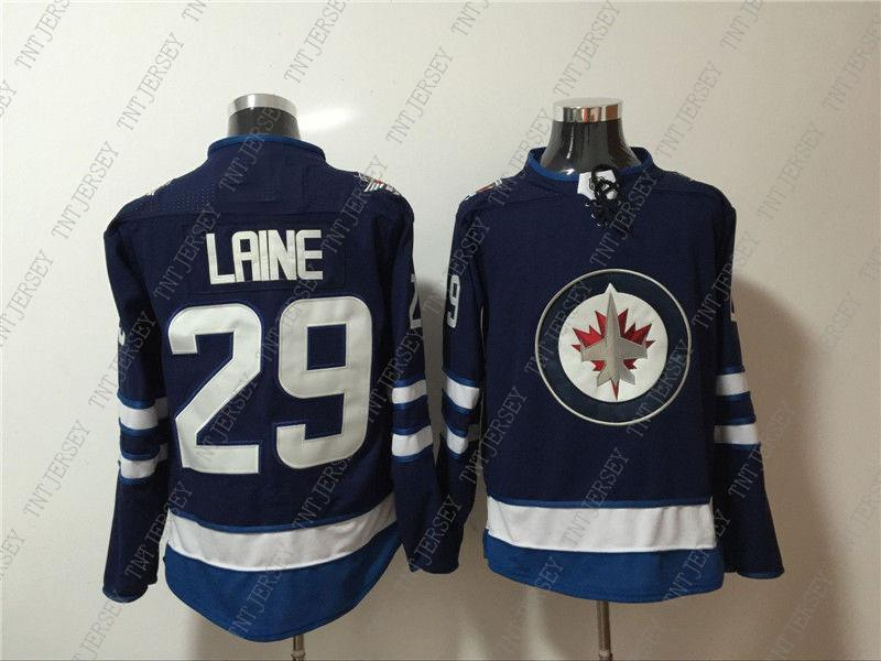 6d5cf3f9b 2019 Cheap Custom NEW Men S Winnipeg Jets 29 Patrik Laine Blue Home ...