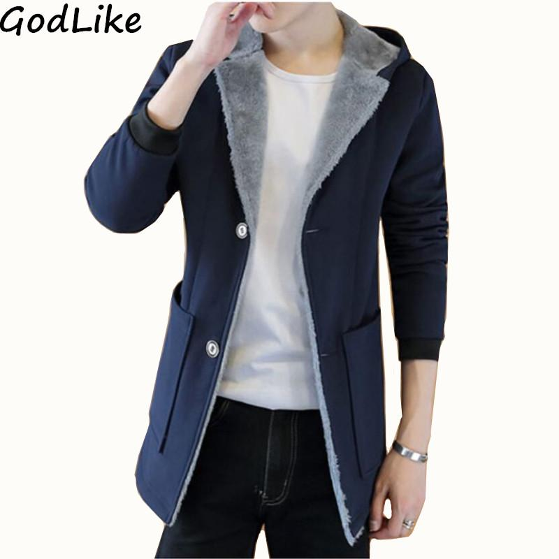 0d318153416 2019 2018 Winter Men  S Fashion Cashmere Warm Jacket Hoodie Trench ...