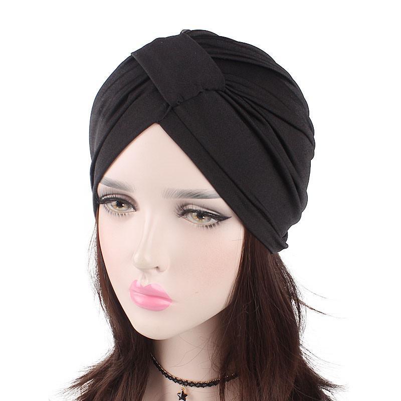 5e817d9fb7da8 Compre 2019 Nuevas Damas Simple Moda Versátil Cuadrado Algodón Elástico  Sombreros Quimio Casquillo Sombrero Árabe A  23.66 Del Newcollection