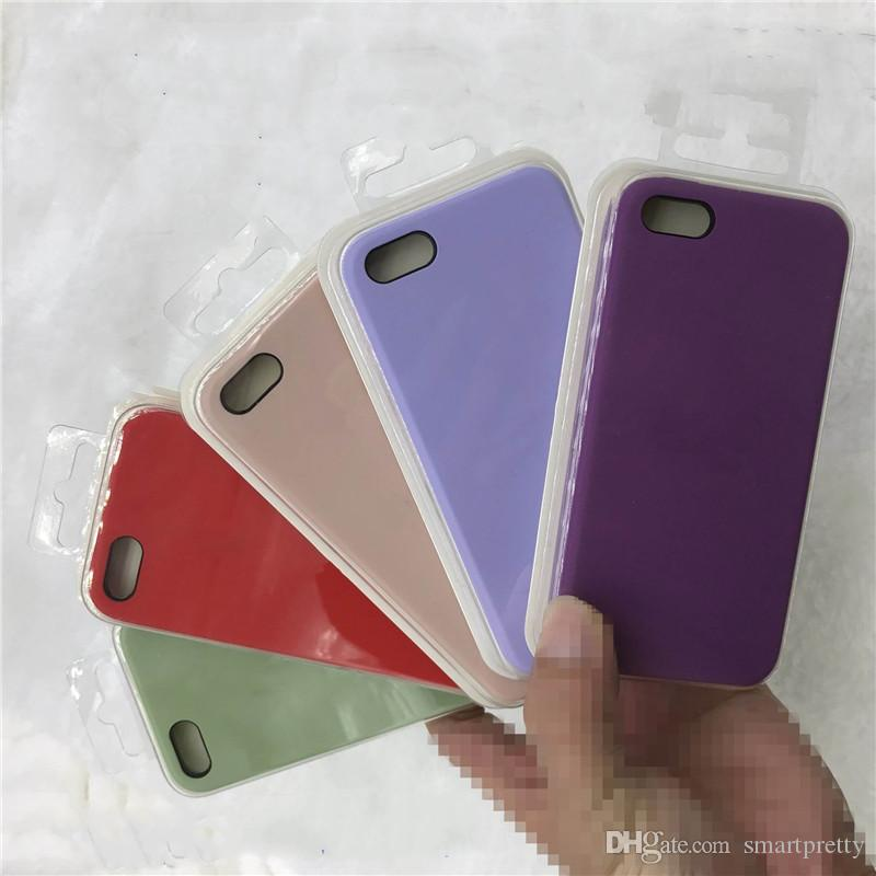 With Logo Original Silicone Case for Iphone x xs xr max 6 7 8 PLUS 47 colors Liquid Rubber Back Covers for Iphone with Retail Box A22102