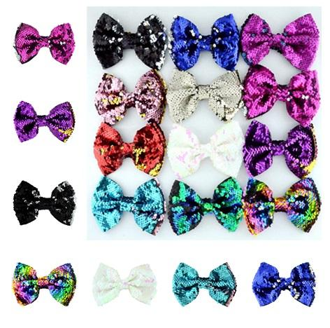 New Diy reversible Acessories without clip Mermaid Sequins hair decoration Pattern Flip Sequin Double color decoration Accessories T10C0015