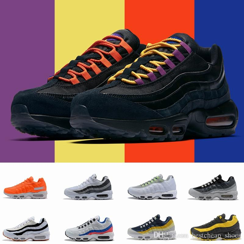 brand new 963cc 62365 Scarpe Running Nike Air Max 95 Airmax 95 2019 New Neno 95 Giallo Uomo  Scarpe Da Corsa Uomo 95s Nero Bianco Air Blu Sport Donna Scarpe Da  Ginnastica Del ...