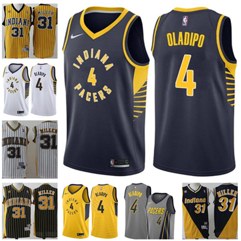 476da605423 2019 New Men Indiana Victor 4 Oladipo Jersey Pacers Reggie 31 Miller Jerseys  Retro Jersey S 2XL Berketex Bridesmaid Dresses Bridesmaid Dress Colors From  ...