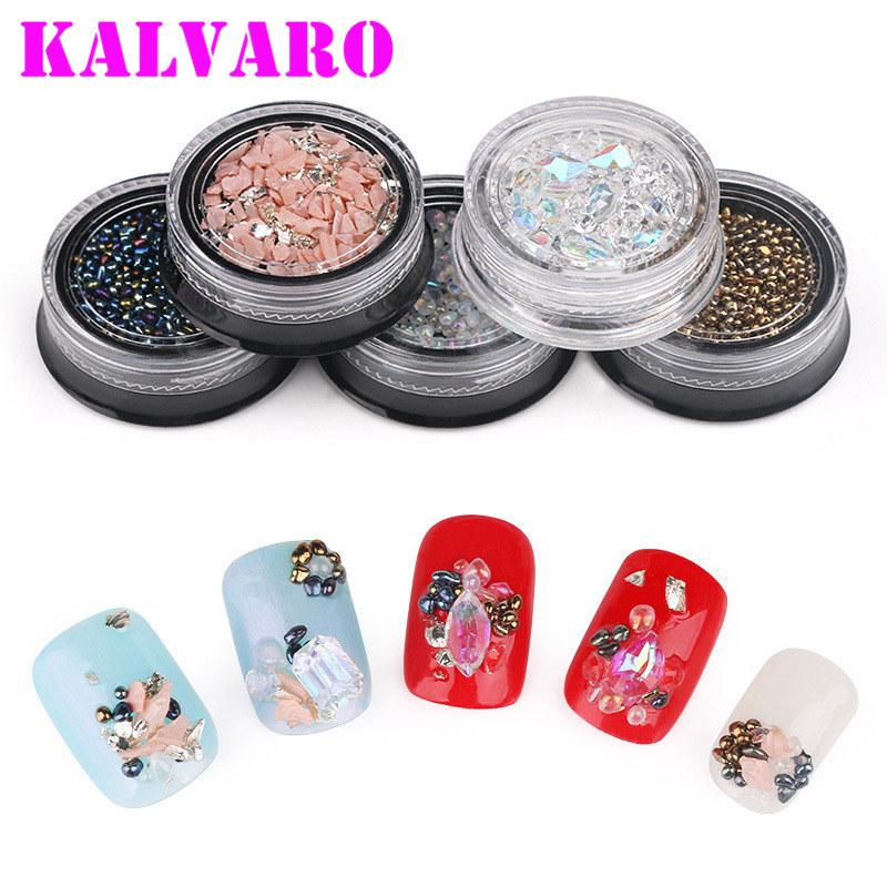 Mix Glitter Flatback Nail Art Charms Rhinestones Crystal AB Flame Opal Rose  Gold Charm Gem Strass Stone Nail Decoration