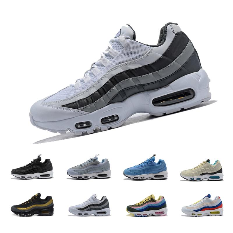 size 40 491e0 fec3c 2018 Ultra 95 OG 20th Anniversary Men Running Shoes Sports 95s Black air  sole Grey Mens Trainers Tennis Sneakers Size 5.5-11