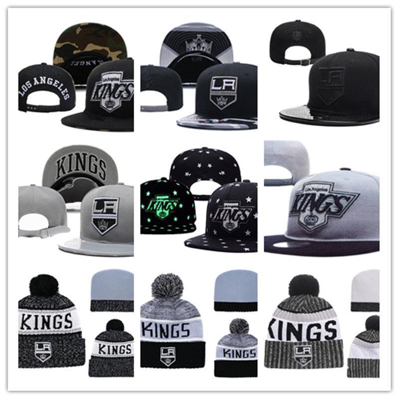 9c0cdad5b87 Los Angeles Kings Knit Hat White Grey Red Black Los Angeles Kings ...