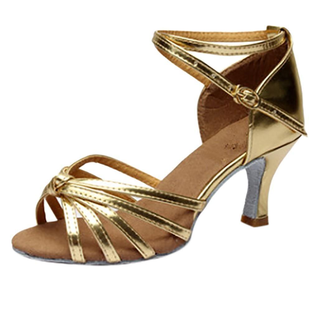 a49d2f43 Compre Zapatos Salsa Danza Mujeres Tacón Dama Latin Dance Med Tacones  Fiesta Tango A $25.17 Del Deals17 | DHgate.Com
