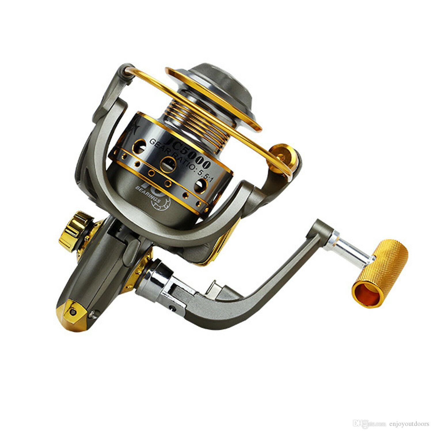 10BB Spinning Fishing Reel Rough Line Metal Wire Cup Saltwater Freshwater 5.5:1 Fishing Reels