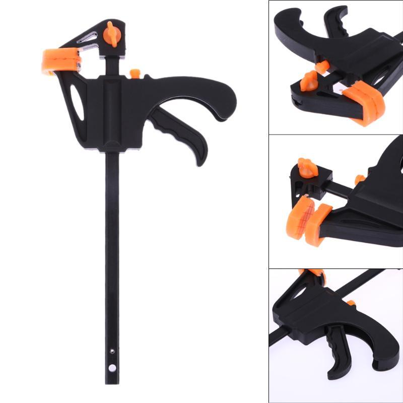 4 Inch Quick Ratchet Release Speed Squeeze Wood Working Work Bar F Clamp Clip Kit Spreader Gadget Tool DIY Hand Woodworking
