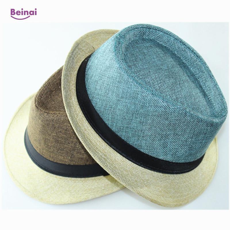 Compre Beinai Gorro De Lino Mujer Sombreros Unisex Gorros Ligeros  Transpirables Sombrilla Sombrero Para El Sol Sombreros De Playa Impermeables  Hombre Gorros ... 3be6887d2bf