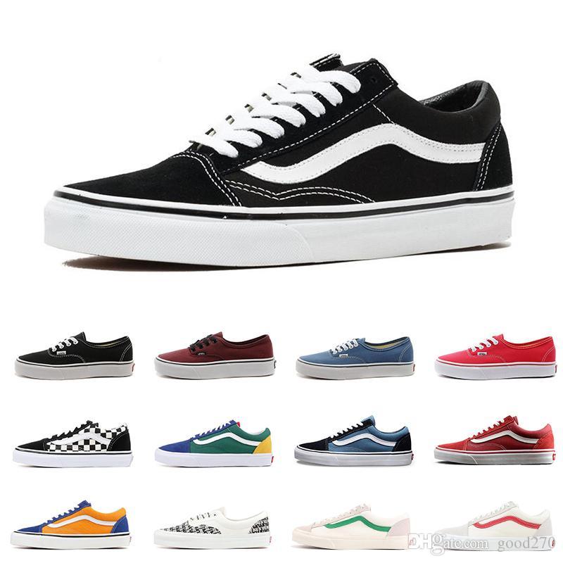 2019 Old Skool Outdoor SK8 DIE WAND Schuhe Canvas Sneaker für Männer Frauen Angst vor Gott YACHT CLUB MARSHMALLOW Dame Kinder Skateboard Schuhe
