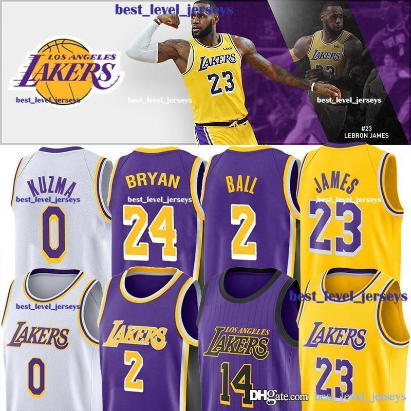 sale retailer 5ea7e ff954 hot sale 23 Lebron Jersey James Jerseys 2 Lonzo Jersey Ball 14 Brandon  Jersey Ingram 0 Kyle Jerseys Kuzma fast shipping auick dry