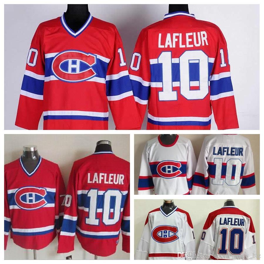 innovative design e08bf 1ecef High Quality Vintage #10 Guy Lafleur Jersey Mens Montreal Canadiens Hockey  Jerseys 1946 Vintage White Jean Beliveau Hockey Jersey Stitched