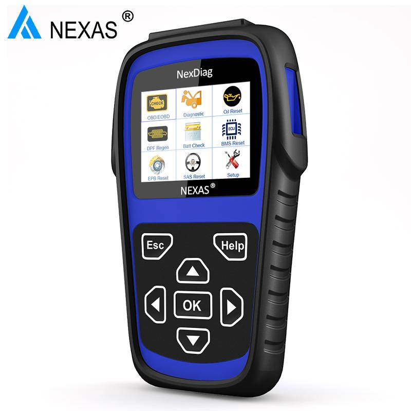 NEXAS OBD2 Scanner for Land Rover Discovery Jaguar XF Freelander Range  Rover DPF ABS SRS Airbag Diagnostic Tool Oil Reset ND602