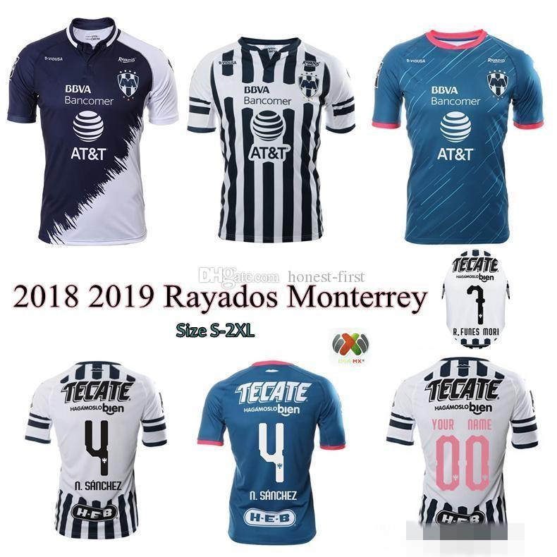 7ea25a1ad8da9 2018 2019 Camisetas De Fútbol De Rayados Monterrey 18 19 Hogar Lejos 3ro  Camiseta De Futbol R.FUNES MORI N.Sanchez D.PABON HOMBRES MUJERES KIDS  Uniformes ...