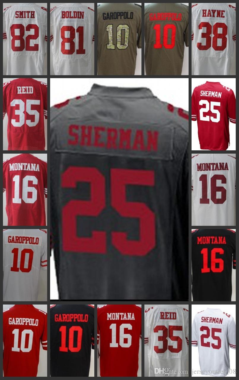 62906174eb7 ... coupon code for men limited san francisco 25 richard sherman women 49ers  jerseys 10 jimmy garoppolo