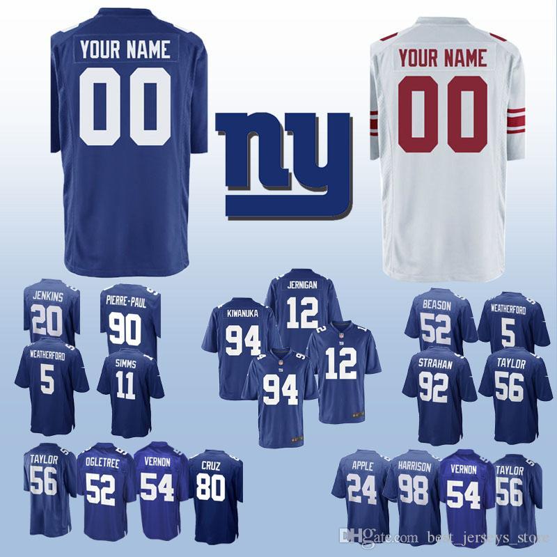 new product 12e35 bbe71 New York jerseys Gaint 23 Corey Webster 98 Damon Harrison 24 Eli Apple 88  Evan Engram Can be customized jersey