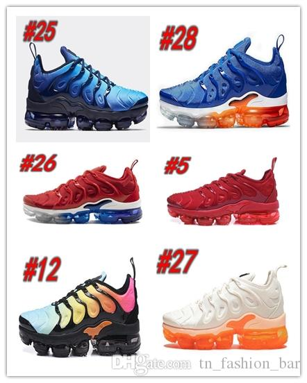 Nike Air Max Tn plus Brand New Bumblebee TN PLUS Hommes Femmes Chaussures Designer Creamsicle Royal Game Ultra Blanc Chaussures de course noir 2019 Chaussures de sport 36-45 BS100