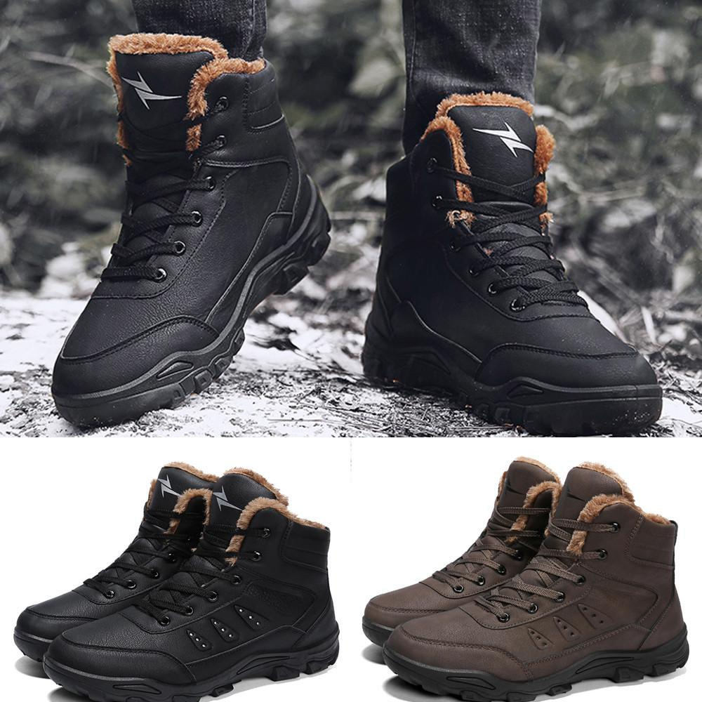 adab13fcdcde Winter Men Leisure Keep Warm Shoe Wear Resistant Non Slip Thick Bottom Snow  Boot Man Shoes Winter Snow Boots Fashion Classic Cowboy Boots Chelsea Boots  From ...