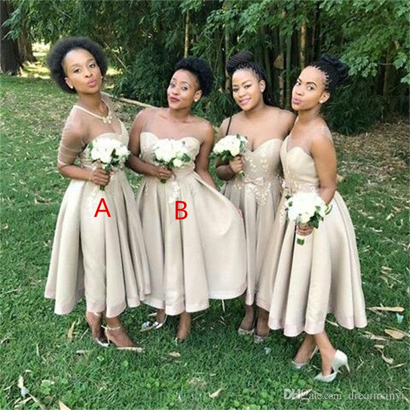 South African A Line Bridesmaid Dresses 2019 New