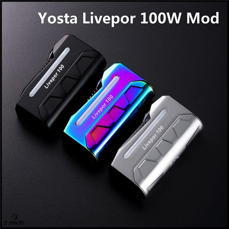 Original Yosta Livepor 100W Box Mod Electronic Cigarettes Mod Voltage  Adjustable Vape Mod DHL Shipping