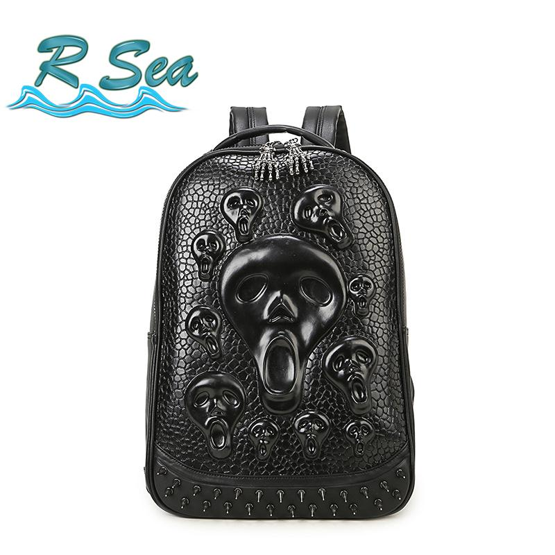 14inch Laptop Bag Backpack Men Fashion Skull Backpack New Trending Computer  Travel Waterproof Student Bags Fastshipping Swissgear Backpack Swiss  Backpack ... 22b022199723e