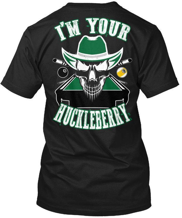 Pool Im Your Huckleberry - I'm Wholesale Cool Casual Sleeves Cotton T-Shirt Fashion New T Shirts Unisex Funny Tops Tee Tagless Tee T-Sh