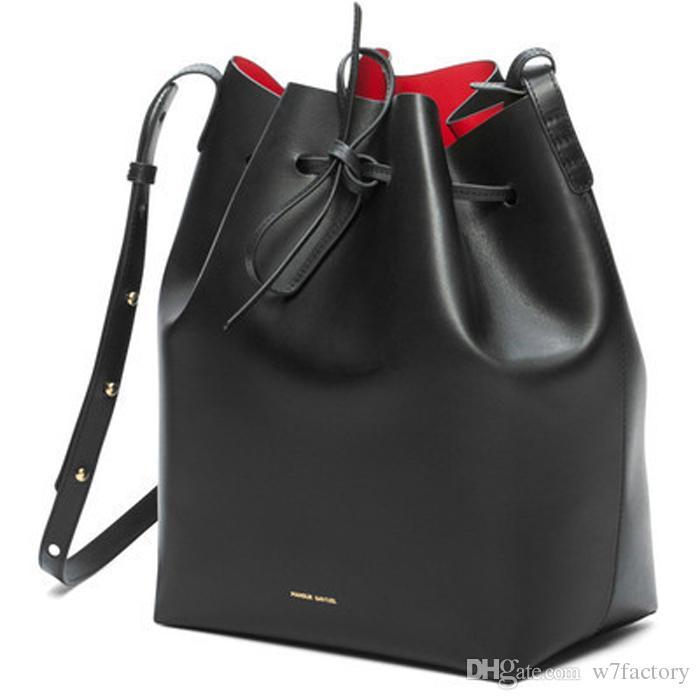Women S Fashion Brand Bag Mansur Gavriel Medium Small Mini Bucket Purse  Crossbody Shoulder Bag Wristlet Black Flame Red Interior Bags For Sale  Handmade ... bc04930ac