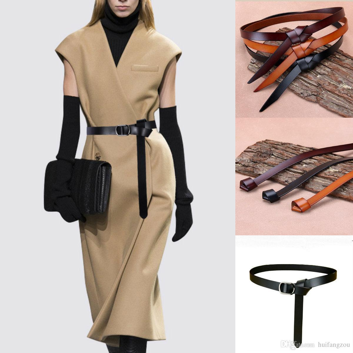 Acheter 2019 Créateur De Mode Ceintures Simple Élégant Femmes Robes  Accessoires Top Qualité Ceintures En Cuir Ceinture En Stock De  12.07 Du  Huifangzou ... 19391b0d762