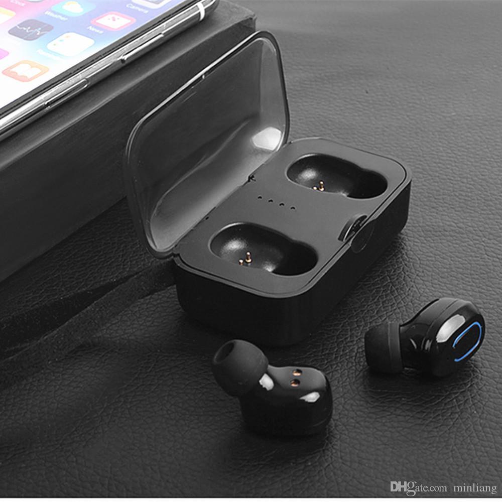 Ti8s Bluetooth 5.0 Kulaklık TWS Kablosuz Kulaklık Kulak Handsfree Mic ile Spor Kutusu Kulakiçi Şarj Kutusu