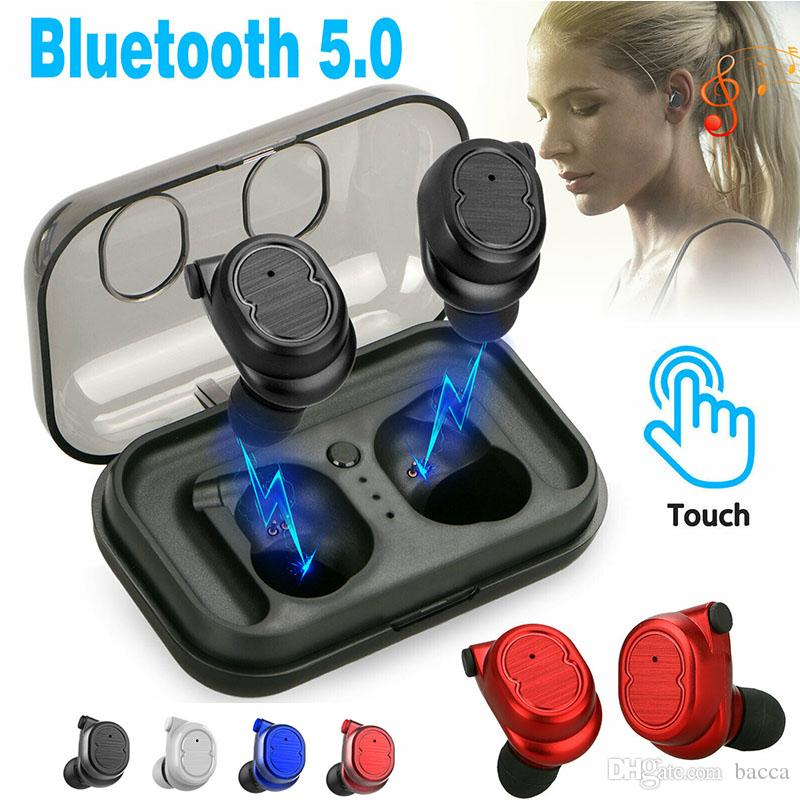 TWS Bluetooth 5.0 Ture WirelessEarphone Mini auricolari Auricolari wireless stereo per iPhone IOS Smartphone Android