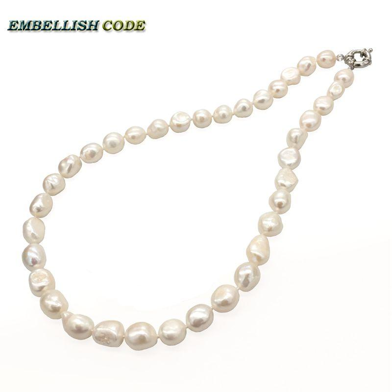 2019 Latest Design Natural Freshwater Pearls 100 Grey Irregular Shaped Pearl Necklace Sweater Chain Home