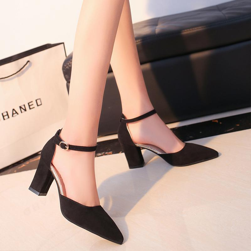 0511a14e3e6 Designer Dress Shoes 2019 Fashion Women High Heels Pumps Comfortable Square  Female Elegant Party Office Summer Ladies Wedge Wedding BT746 Ladies Shoes  ...
