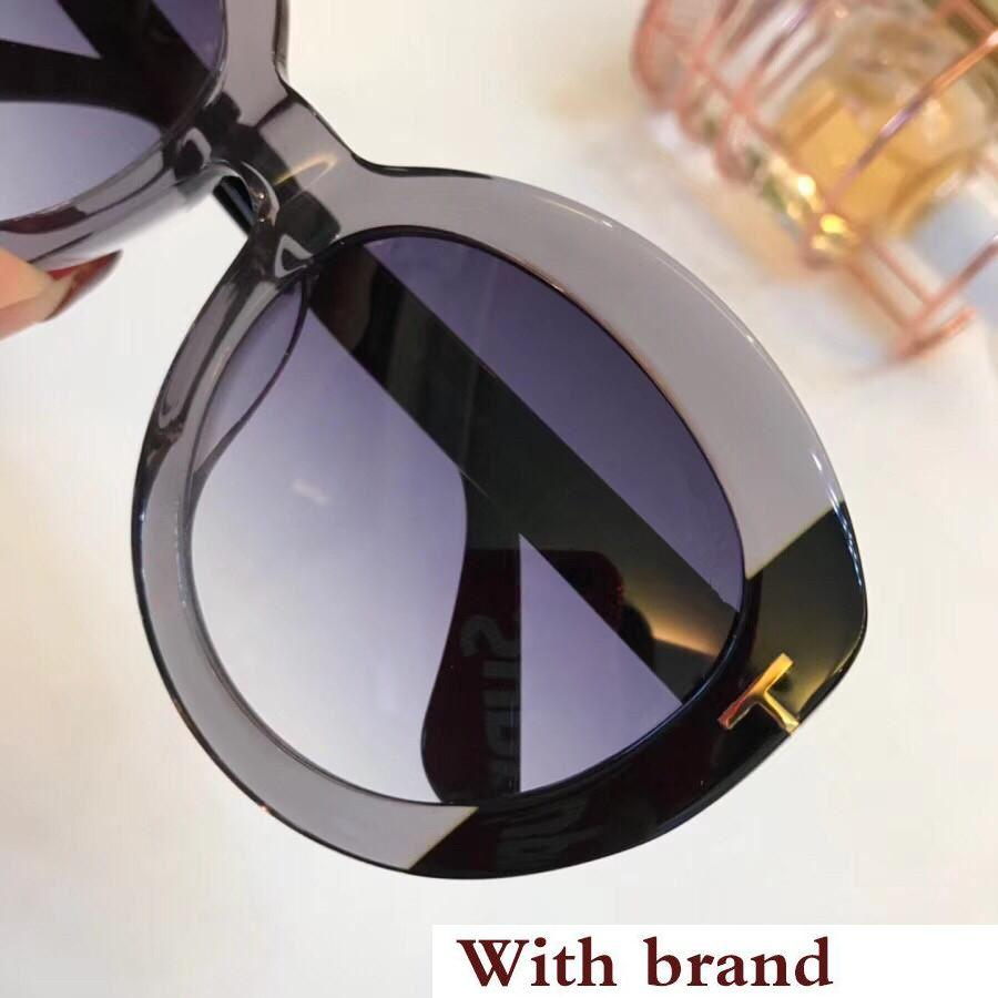 0581 Sunglasses For Women Popular Design Fashion Retro Style UV Protection Lens Oval Frame Top Quality Free Come With Package