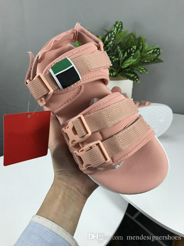 cb9362068593 2019 LEADCAT YLM 19 Suede Slippers Designer Sandals Luxury Slide Summer  Fashion Wide Flat Slippery Sandals Slipper Flip Flop Size 36 44 Sheepskin  Slippers ...