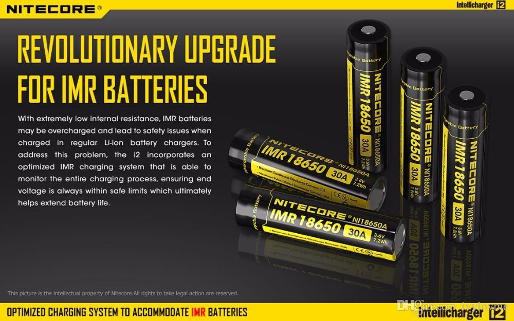 Caricabatterie universale Nitecore I2 batteria 16340/18650/14500/26650 Caricatore universale caricabatterie Intellicharger EU EU UK UK 2 in 1