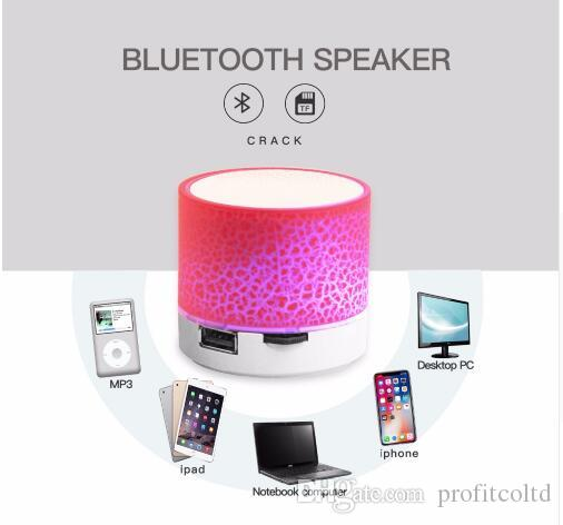 Good Bluetooth Speaker Mini Wireless Loudspeaker Crack LED TF USB Subwoofer bluetooth Speakers mp3 stereo audio music player