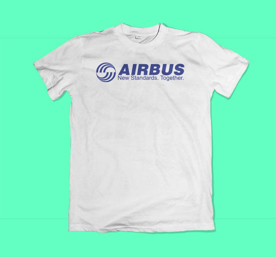 64357bc6 AIRBUS Aerospace Aviation New Men'S Black White T Shirt Size XS ...