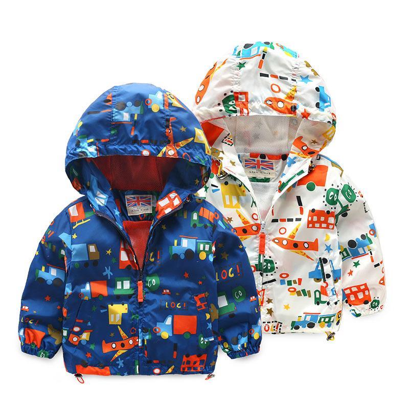 b4411717a OLEKID 2019 Spring Summer Children Boys Jacket Cartoon Car Graffiti Boys  Outerwear Coat 2 7 Years Kids Baby Boys Jackets Toddler Boy Winter Jacket  Fall ...