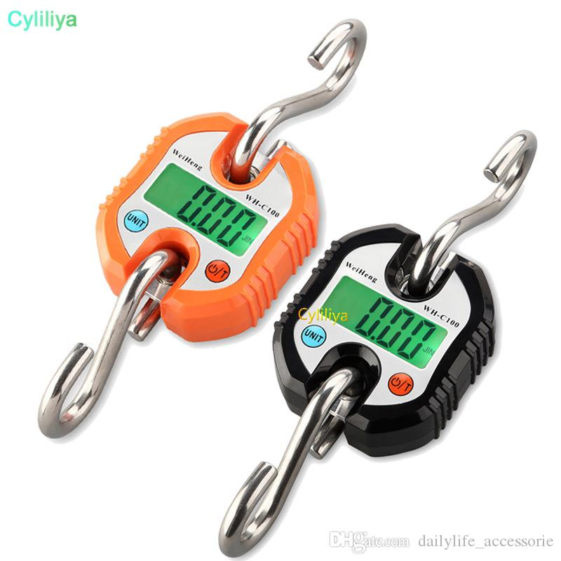 Max 150kg Portable Digital Hanging Scale Electronic Crane Fishing Balance Weight Scale Hook