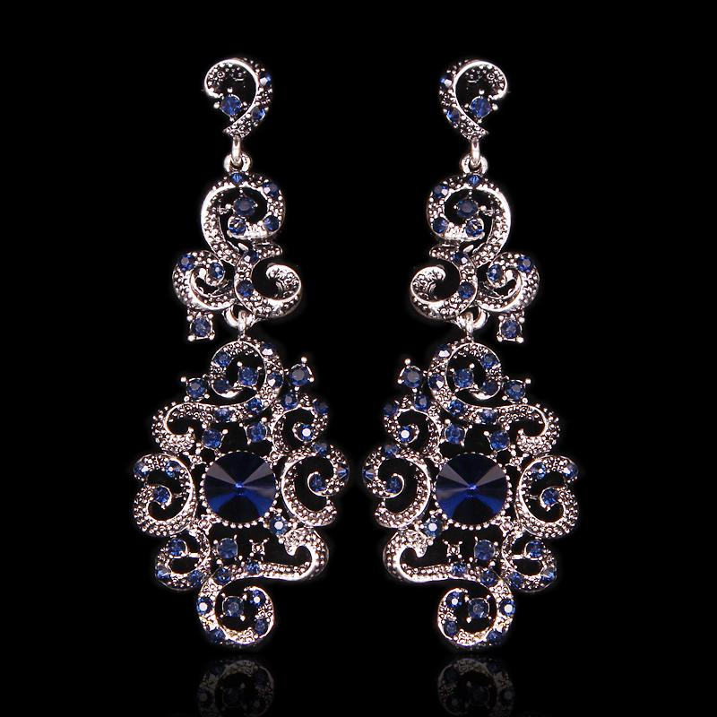 34d6f4897 2019 Bridal Drop Trend Indian Bridal Statement Long Dangle Drop Antique  Vintage Earrings Retro Party Jewelry Gift For Women Girls E16462 From  Yan234, ...