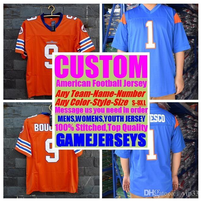 da6219b16 2019 Custom American Football Jerseys College Cheap Authentic Color Rush  Sports Jersey Stitched Mens Womens Youth Kids 4xl 5xl 6xl 7xl 8xl Shirts  From Vip33 ...