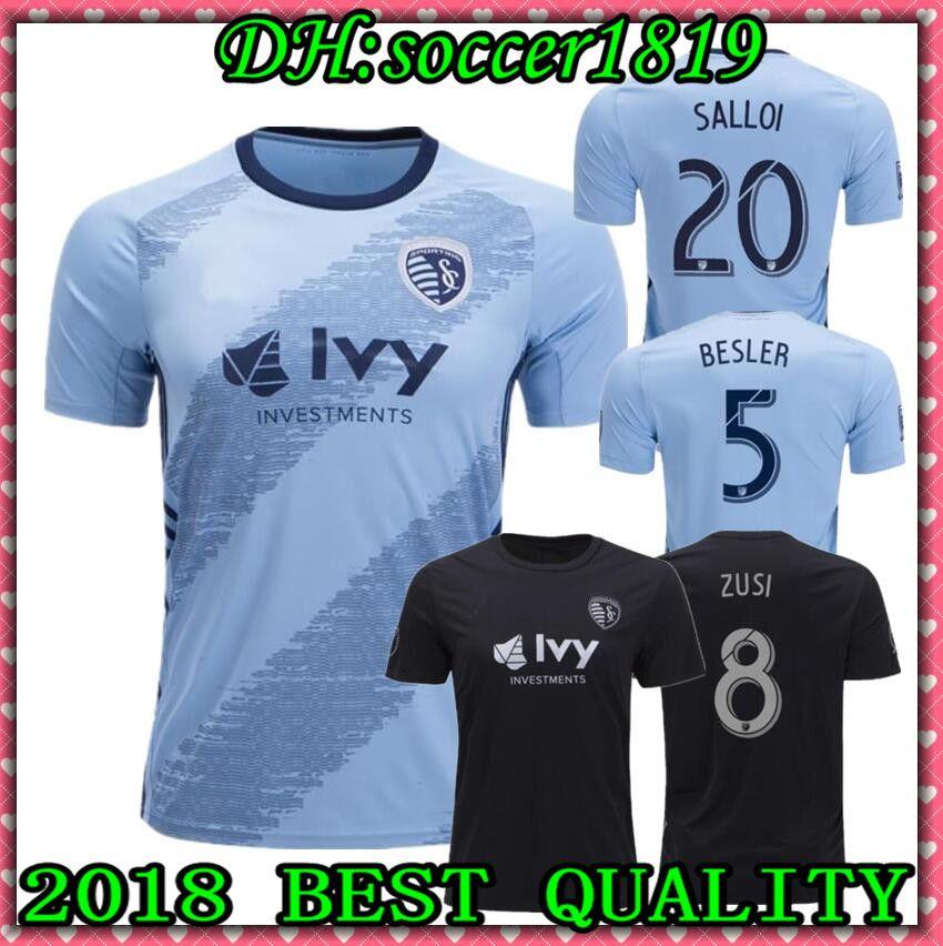 new styles 1ae32 ee9ed 2019 20 MLS Sporting Kansas City soccer jersey 19 20 BESLER RUSSELL ilie  ZUSI SALLOI Futbol Camisa MLS Football Camisetas Shirt Kit Maillot