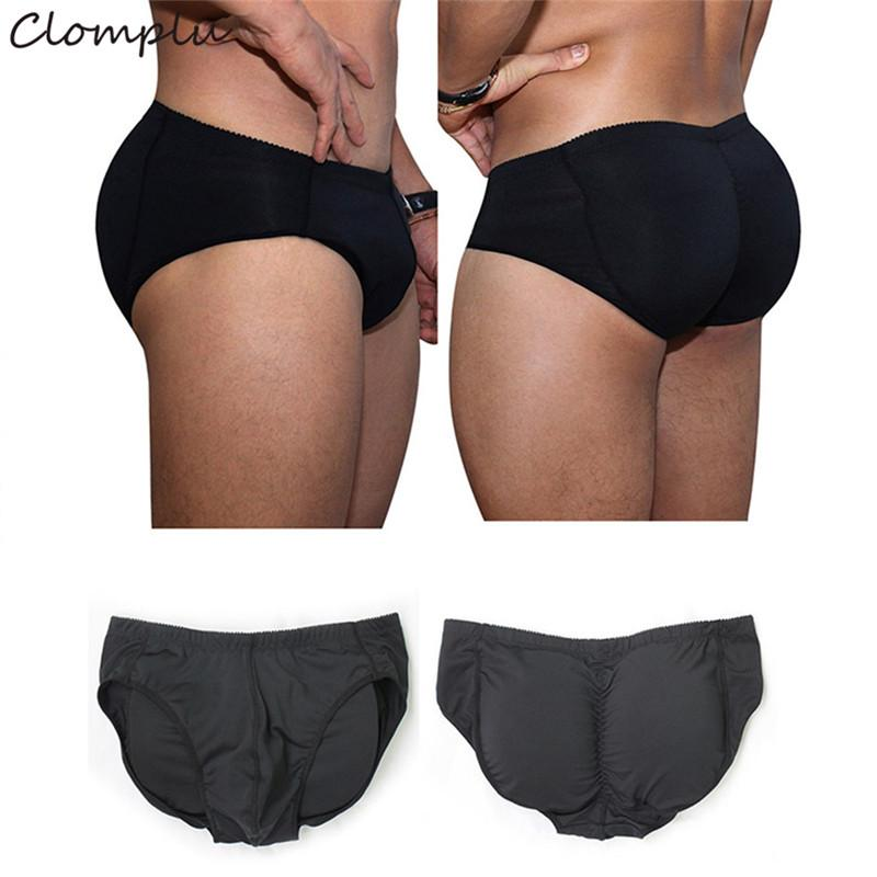 ef3ac86b8a96 Clomplu Male Shaper Padded Underwear 2019 New Plus Size Spandex ...