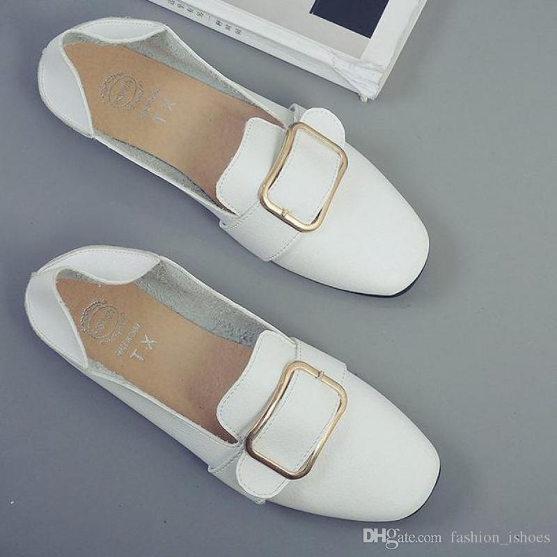 393b42520 Compre Moda Mujeres Zapatos Planos Cómodos Ballet Para Pisos 2018 Mocasines  Nuevos Zapatos De Conducción Ocasionales Mujer Zapatillas Venta Caliente  Lazy ...