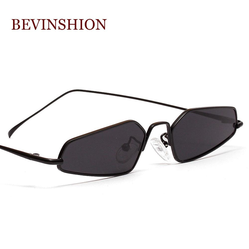 7a83c54dcb5 Metal Pointed Cat Eye Sunglasses Women Vintage Ultra Small Frame ...