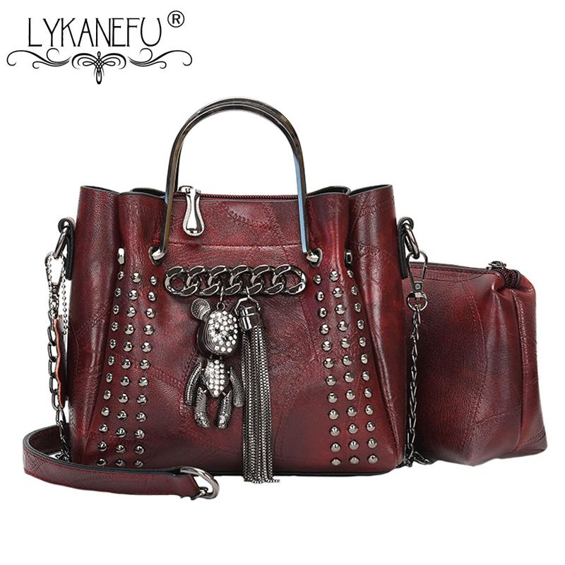 17e3d17f5649 LYKANEFU Composite Bag Women Leather Handbag Designer Purse Ladies Small Tote  Shoulder Bags with Top Handles Vintage Women Bag Shoulder Bags Cheap  Shoulder ...